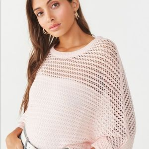 NWT Forever 21 Open Knit Dolman Sweater Size Large
